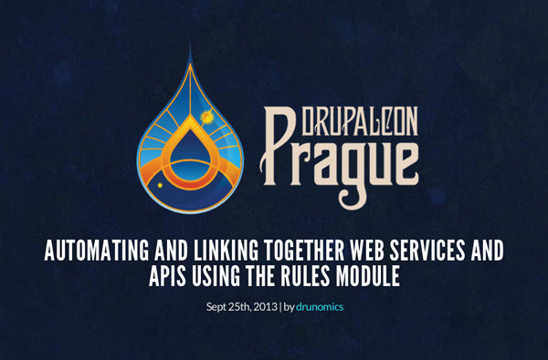 DrupalCon Prague Rules Session Startscreen